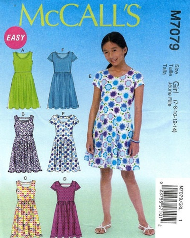 af5f27b9e08 GIRLS CLOTHES PATTERN Make Dress Sundress   Summer Clothes