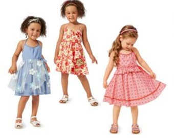 GIRLS DRESS  PATTERN / Three Styles - Sundress / School - Party Clothes / Sizes 2 Years to 7 Years / Burda