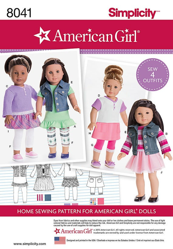 RETIRED MAKE DOLL CLOTHES SEWING PATTERN FITS AMERICAN GIRL LOGAN~BOY OUTFIT