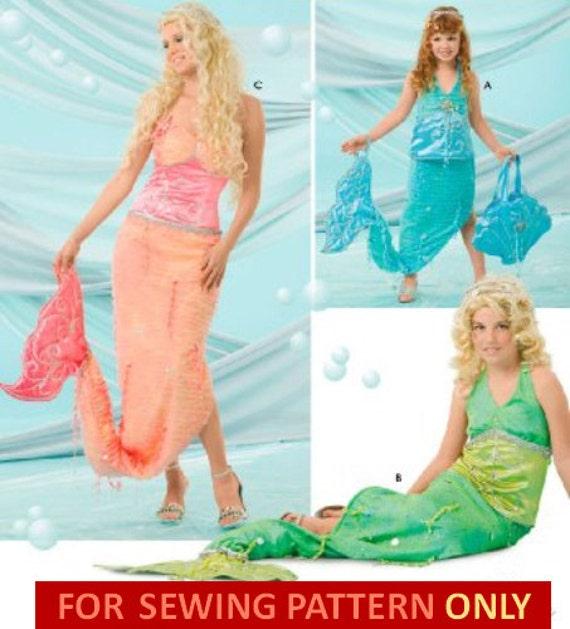 Im Ruhestand Kostüm Schnittmuster Ariel Meerjungfrau / | Etsy
