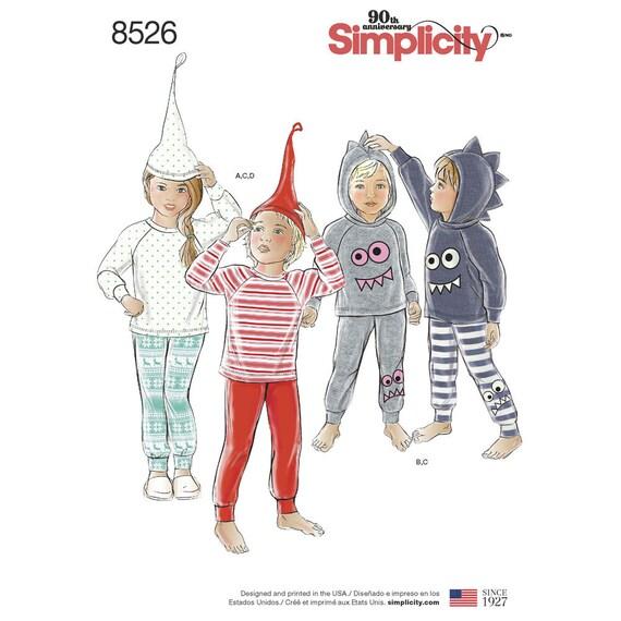 PATRONES DE PIJAMAS DE NIÑOS Niña niño pijamas de punto   Etsy