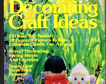 Decorating Craft Ideas - Vintage magazine, May 198