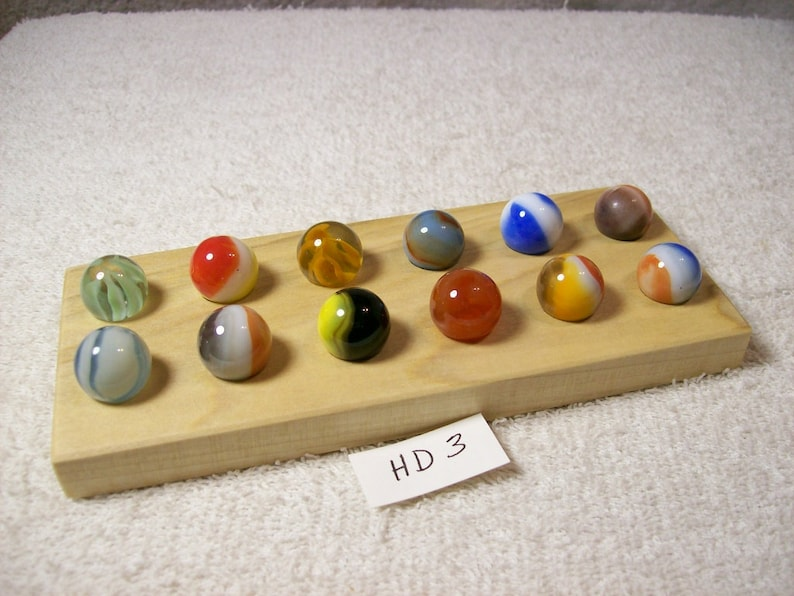 Marble Lot Of 12 Vintage With Display  HD 3