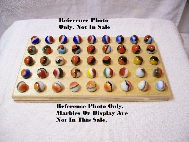 Marbles Display  Flat Pocket Display  For 6 Marbles Up To 1516  J14