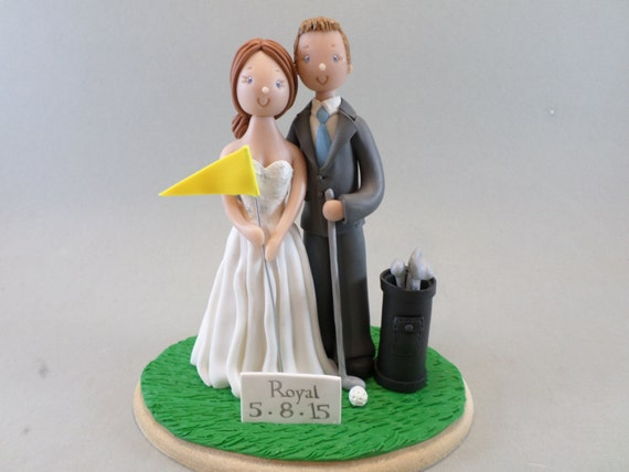 golf wedding cake toppers ireland amp groom golf fans personalized wedding cake topper 14851