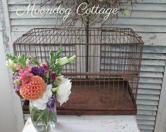 Cage ancienne rustique avec toboggan bas - CiRCa 1940