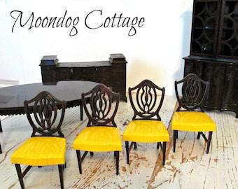 Vintage poupée idéal maison meubles - sept pièces - ensemble de salle à manger
