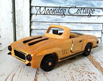 Wooden Model Convertible Car