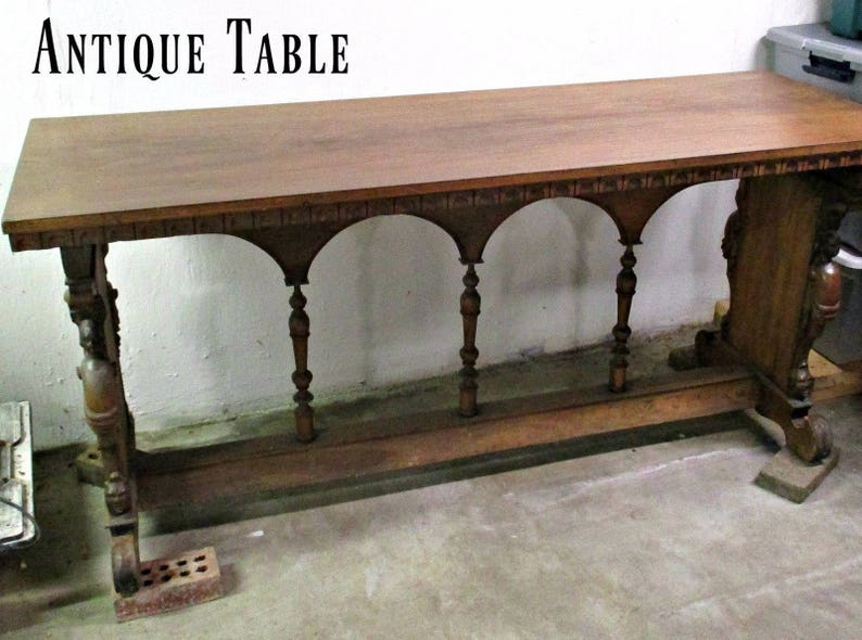 Genial GoRGeouS U0026 UNuSuaL ANTiQuE BuFFeT TaBLE   OVeR 100 YeaRS OLD!