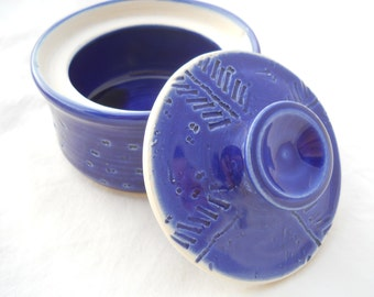 Small Cobalt Blue Canister