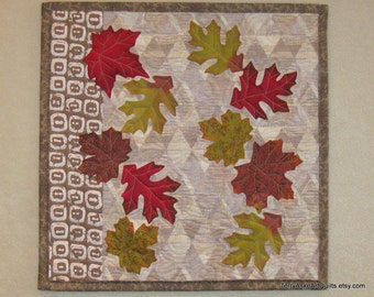 Autumn Leaves Quilted Wall Hanging