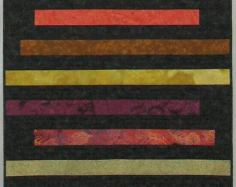 "Quilted Wall Hanging or Table Runner  - ""Earthy, Spicy"""