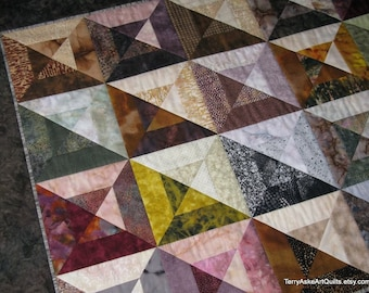 "Art Quilt Wall Hanging - ""Marble Tiles"""