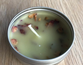 Rose Organic Beeswax Candle with Rose Essential Oil