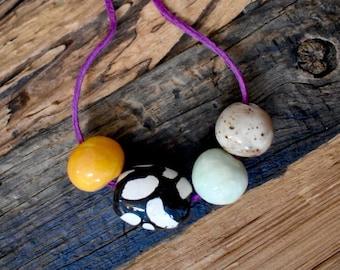 Handmade Ceramic Beaded Necklace