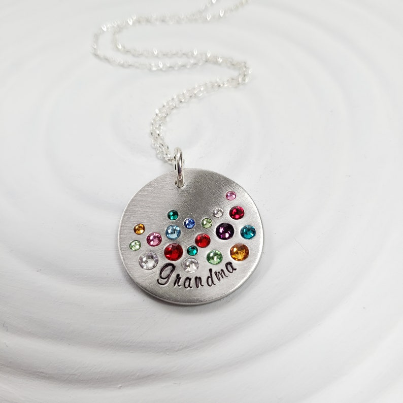 8fdca65dd3379 Generations Grandmother's Necklace - Fits up to 3 Generations of  Birthstones - Gift for Grandma - Mother's Day Gift - Birthstone Necklace