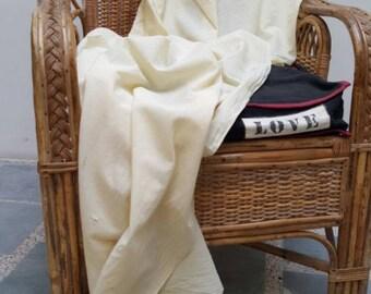 Khadi lengths- plant dyed - Lightest Lemon Muslin EC 6