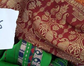 Silk Sari ends- free to a good home