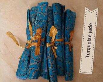 Bunches of 10 silk sari squares