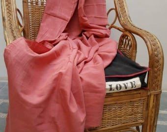 Khadi lengths- plant dyed - Madder pink EC1