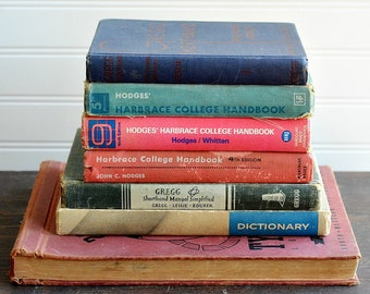 Decorative Book Bundle 18, Antique Books, Vintage Books, Photo Props, Home Decor, Interior Styling, Fixer Upper Style, Free Shipping