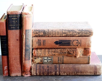 Decorative Book Bundle 15, Antique Books, Vintage Books, Photo Props, Home Decor, Interior Styling, Fixer Upper Style, Free Shipping