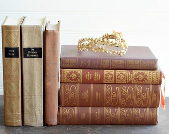 Decorative Book Bundle 11, Antique Books, Vintage Books, Photo Props, Home Decor, Interior Styling, Fixer Upper Style, Free Shipping