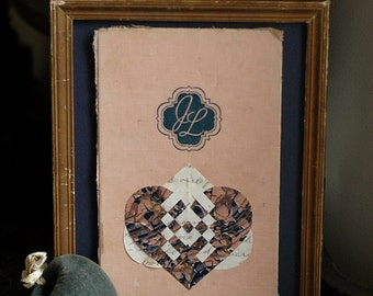 Papercutting Valentine Love Token - Double Hearts- Initials - J Loves L - Recycled Book - Love, Engagement, Wedding, Anniversary