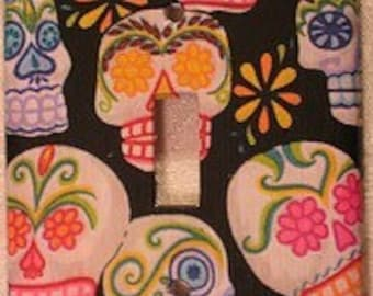 Mexican Day of the Dead Sugar Skull Light Switch Plate Cover