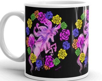 Retro Pink Unicorn Mug- Choose your size!