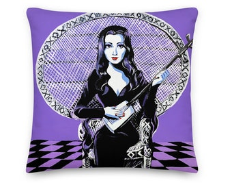 PILLOW The Addams Family- Morticia Addams - Choose your size!
