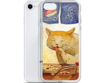 "Sushi CAT  ""All done"" iPhone Case"