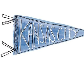 Kansas City Pennant Print
