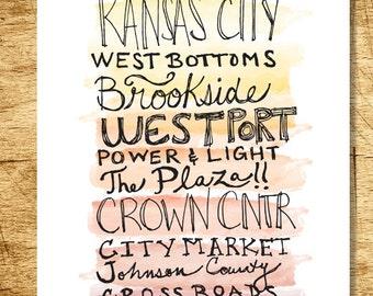 Kansas City Areas Print