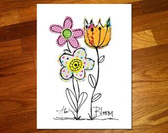 Flowers Bloom 8x10 Print