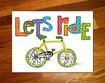 Let's Ride 8x10 Print