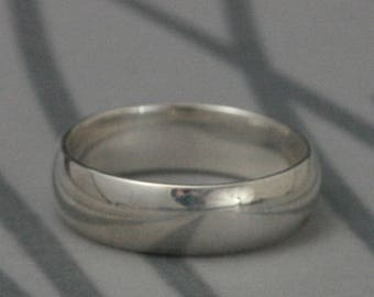 Men's Wedding Band~6mm Wide Band~Simple Wedding Band~Half Round Band~Traditional Ring~Sterling Silver Men's Ring~Plain Jane~Wide Silver Band