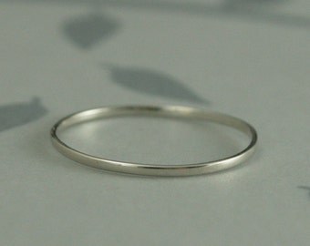 White Gold Ring Etsy