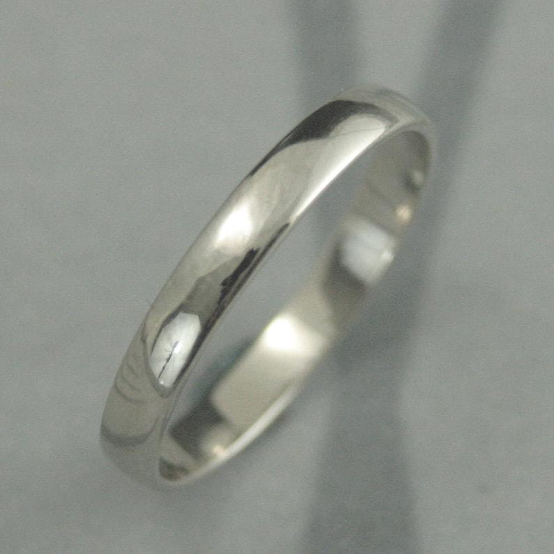 59720d651f91db 10K White Gold BandWomen's Wedding RingMen's Wedding | Etsy