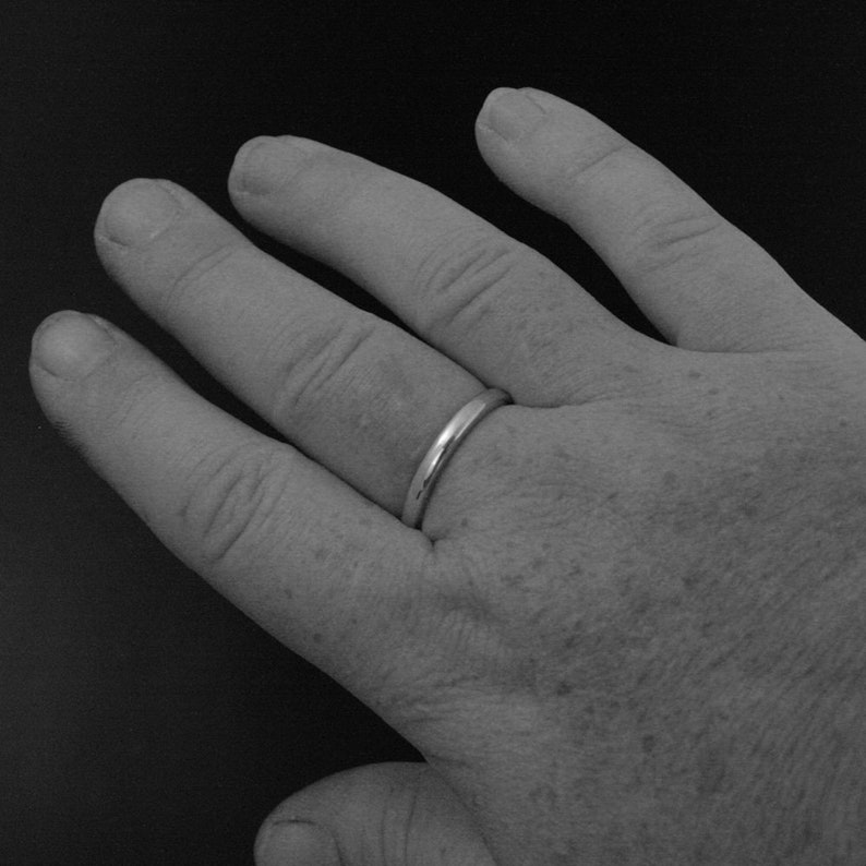 2.5mm Silver Band Thick Silver Ring Silver Stacking Ring Silver Stackable Ring Plain Silver Band 2.5mm by 2mm Thick Substantial Rounded Band