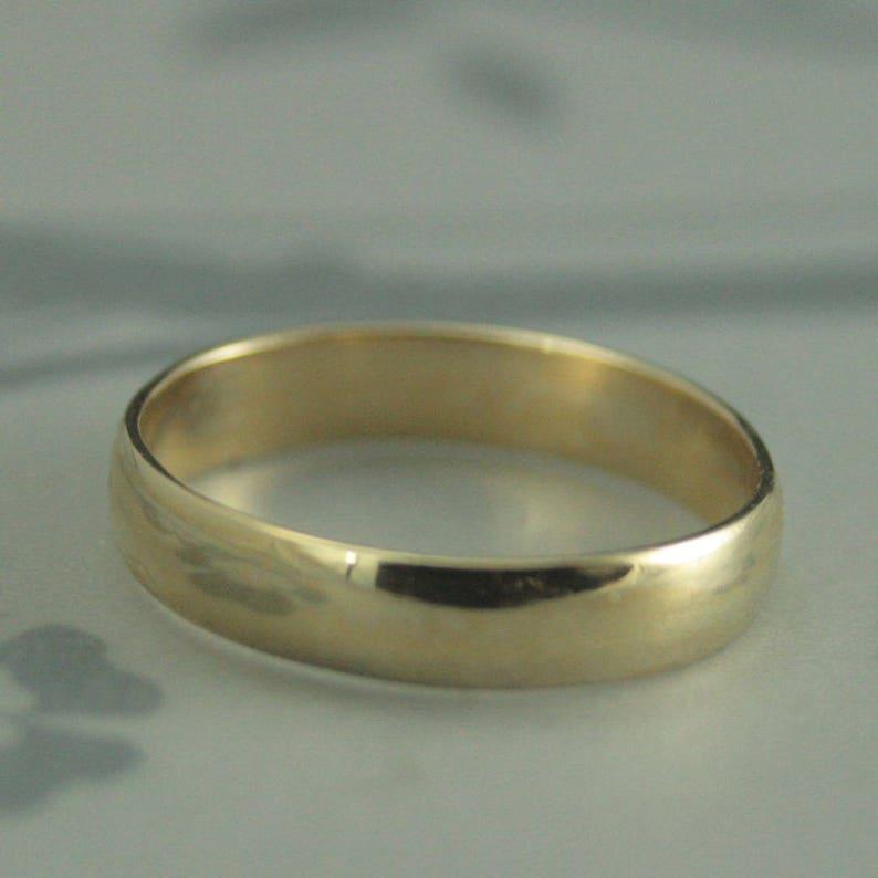 884b1f76d6e89e Comfortable Ring14K Yellow Gold RingLow Dome RingThin | Etsy