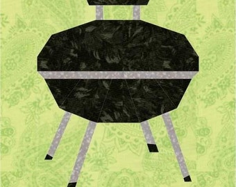 Weber Style Grill Foundation Paper Piece Quilt -PDF Pattern by MadCreekDesigns