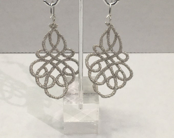Featured listing image: Silver Lace Earrings