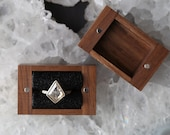 Handcrafted Black Walnut Ring Box