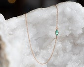 Teensy Emerald Necklace