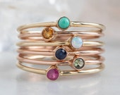 Custom Birthstone Stacking Ring