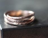 Hammered Rose Gold Stacking Ring - wedding band