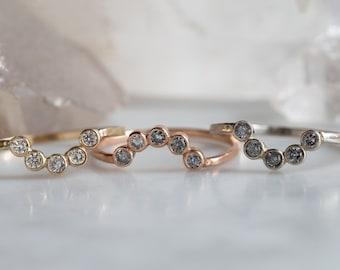 Diamond Bezel Arc Ring