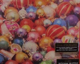 Vintage Springbok Christmas Ornament Puzzle 2 x 2 feet 1982 SEALED Box