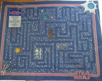 NOS Vintage Star Wars Maze Placemats Package of 8 NIP 1977
